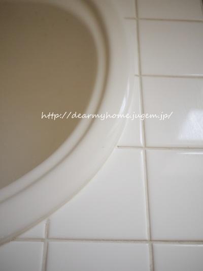 洗面所のタイル掃除