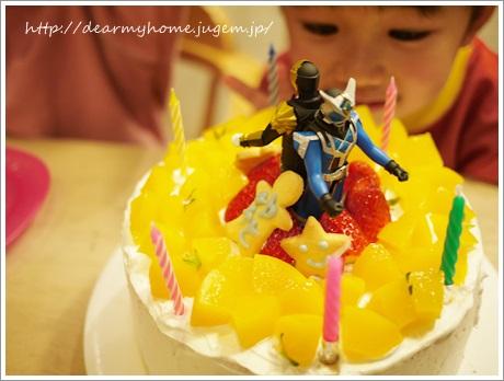 二男の誕生日ケーキは、手作り仮面ライダーケーキ!?