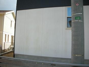 北側の外壁